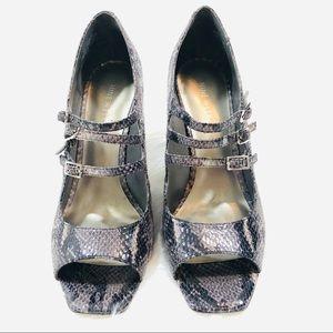 Python Print Strappy Heels by Nine West